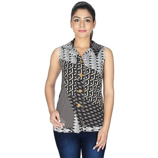 Ticsa Black American Crepe Top