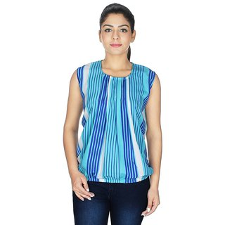 Ticsa Light Blue American Crepe Top