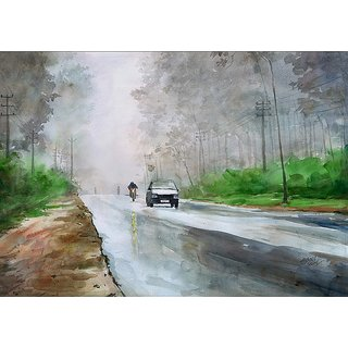 A rainy day II  15 x 22 inch  Watercolor
