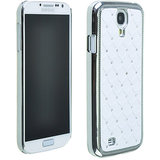 SAMSUNG GALAXY S4 I9500 Crystal Lattice Bling Hard Back Case Cover WHITE Color