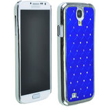 SAMSUNG GALAXY S4 I9500 Crystal Lattice Bling Hard Back Case Cover BLUE Color