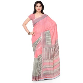 Aagaman Fashion Lovely Grey Colored Printed Faux Georgette Saree 1122C