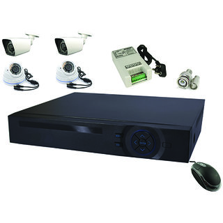 DVR KIT WITH 4 AHD CAMERAS IN 1.3MP (960P) RESOLUTION