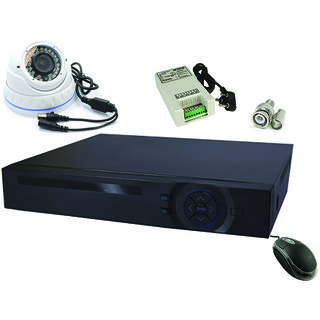 AHD DVR KIT WITH 1 AHD CAMERA IN 1 MP(720P)  RESOLUTION