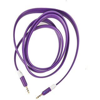 Simple  Stylish 3.5mm Male to Male Aux Cable/ Premium Metal Connector and Shell Audiophile Grade Pvc Tangle-free Material for Lava Iris 300 Style