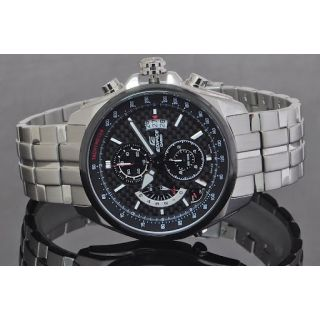 CASIO EDIFICE EF 501D BLACK CHRONOGRAPH WATCH WITH ALARM - NEW IN BOX