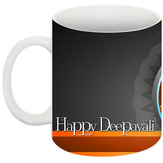 bha Gaurav Creations Printed Diwali Mug