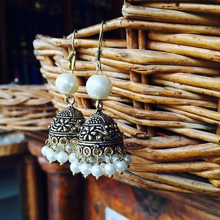 Antique Gold Jhumka