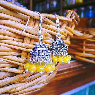 Small Yellow Jhumka