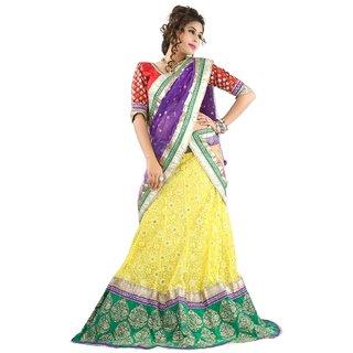 Aagaman Fashion Splendid Intricate Embroidered Wedding Wear Net Lehenga Choli 10004