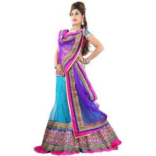 Aagaman Fashion Luxurious Embroidered Wedding Wear Net Lehenga Choli 10016