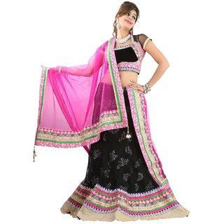 Aagaman Fashion Aristocratic Embroidered Wedding Wear Net Lehenga Choli 10026