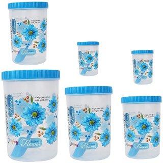 Stylobby - 1200 ml, 1500 ml, 1100 ml, 1100 ml, 250 ml, 250 ml, Storage Container  (Pack of 6, Blue)