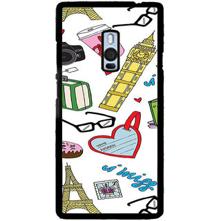 ifasho Modern Art Design Pattern camera box spec love tower Back Case Cover for One Plus Two