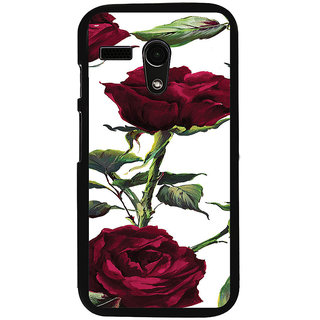 ifasho Animated Pattern colorful rose flower with leaves Back Case Cover for Moto G