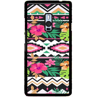ifasho Animated Pattern colrful design flower with traditional design Back Case Cover for One Plus Two