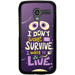 ifasho life Quotes Back Case Cover for Moto X
