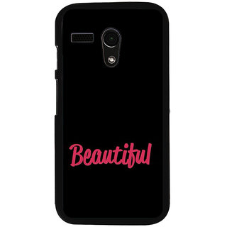 ifasho Bautiful word Back Case Cover for Moto G