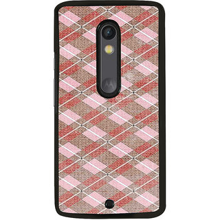 ifasho Design lines pattern Back Case Cover for Moto X Play