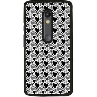 ifasho Modern Art Design Pattern with Lot Of small heart Back Case Cover for Moto G3