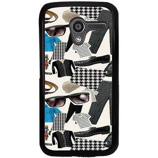 ifasho Modern Art Design Pattern man dress shoes spec belt Back Case Cover for Moto X