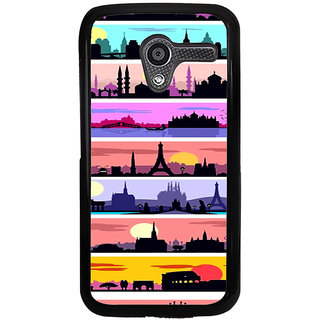 ifasho Modern Art Design Pattern tower temple building Back Case Cover for Moto X