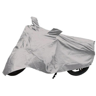 Bike Cover With Mirror Pockets ( Silver )  For Bajaj Boxer At