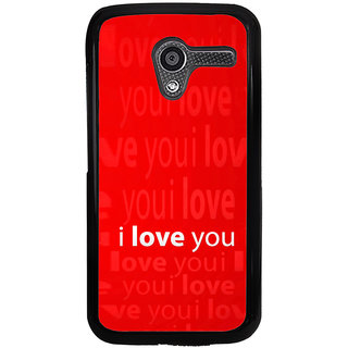 ifasho Love Quotes I love you Back Case Cover for Moto X