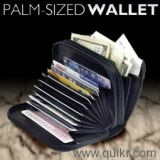 2 In 1 Leather Palm Sized Wallet