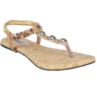 Azores Brown Stylish Flats