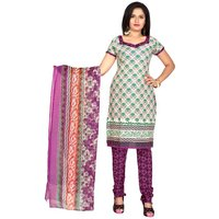 Khushali Presents Printed Crepe Chudidar Unstitched Dress Material(MultiMagento)