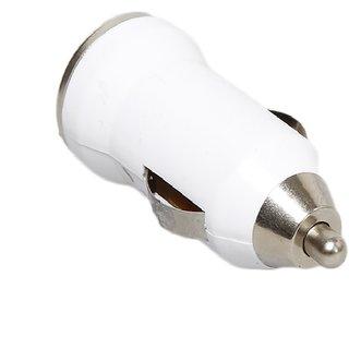 Universal USB 2.0 Bullet Car Charger for  MARUTI ALTO 800 VXI (White)