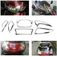 Autofy Headlight Tail Light Indicator Plate Chrome for Honda Activa