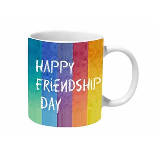 Mooch Wale Happy Friendship Day Colorful Ceramic Mug
