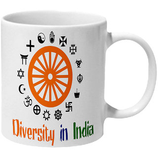 Mooch Wale Diversity In India Ceramic Mug