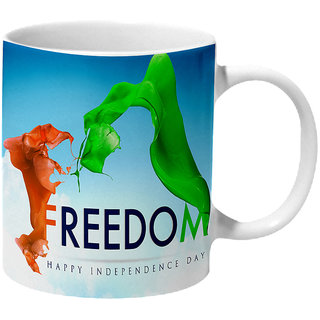Mooch Wale Freedom Happy Independence Day Ceramic Mug