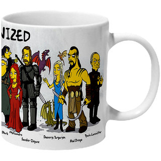 Mooch Wale Game Of Thrones Simpsonized Ceramic Mug