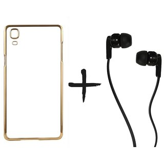 Meephone Back Cover for Samsung Galaxy A8 (GOLDEN) With Earphone (3.5mm Jack)