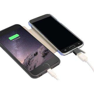 Combo of 2 MicroUSB to Standard USB 2.0 OTG On The Go Adapter for BlackBerry BlackBerry Z30 (Black)