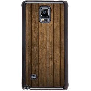 ifasho Brown Wooden Pattern Back Case Cover for Samsung Galaxy Note 4