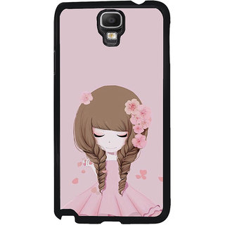 ifasho Girl  with Flower in Hair Back Case Cover for Samsung Galaxy Note 3 Neo