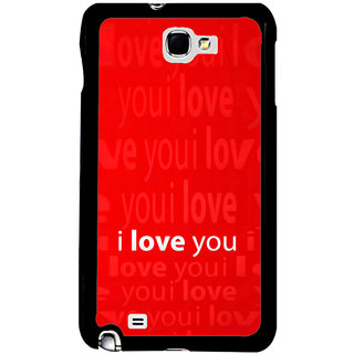 ifasho Love Quotes I love you Back Case Cover for Samsung Galaxy Note 2