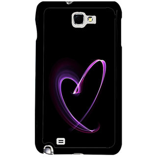 ifasho Modern Art Design heart animated Back Case Cover for Samsung Galaxy Note 2