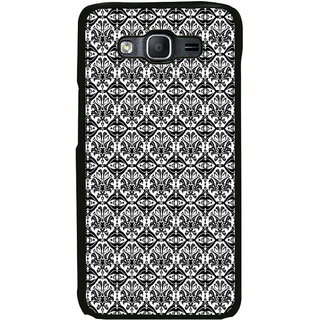 ifasho Animated Pattern design black and white flower in royal style Back Case Cover for Samsung Galaxy On 5 Pro