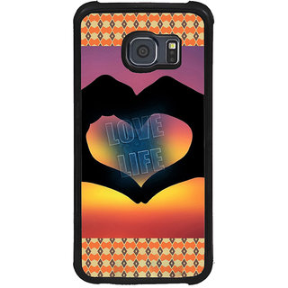 ifasho Love life heart shape made by hand  Back Case Cover for Samsung Galaxy S6 Edge Plus