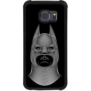 ifasho Animated man face cartoon with horn Back Case Cover for Samsung Galaxy S6 Edge Plus