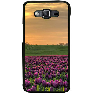 ifasho green Grass and purple flower at sunset Back Case Cover for Samsung Galaxy On 7 Pro
