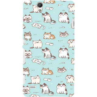 ifasho Animated Design  Many Cat Back Case Cover for Sony Xperia C4