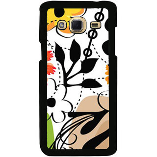 ifasho Animated Pattern colrful design flower with leaves Back Case Cover for Samsung Galaxy J3