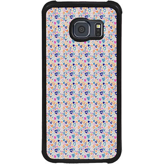 ifasho Modern Art Design Pattern with Lot Of small heart Back Case Cover for Samsung Galaxy S6 Edge Plus